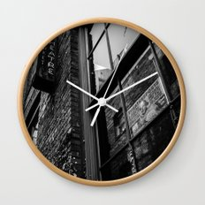 Alley Atmosphere Wall Clock