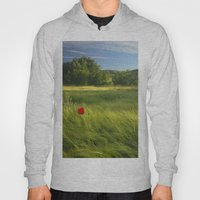 lonely poppies at the fields Hoody