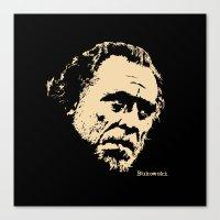 Bukowski#! Canvas Print