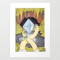 Levitation Stone Art Print