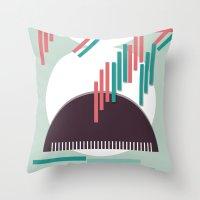 Moustache Mountain Throw Pillow