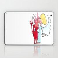 Angel/devil Lesbian Kiss Laptop & iPad Skin