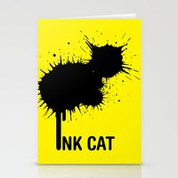 INK CAT Stationery Cards