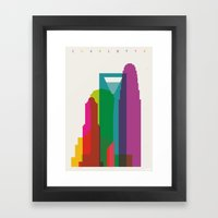 Shapes of Charlotte accurate to scale Framed Art Print