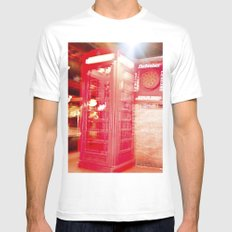 Communication in 3D. SMALL Mens Fitted Tee White