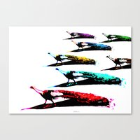 March Of The Peacocks Canvas Print