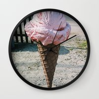 Giant Ice Cream Wall Clock