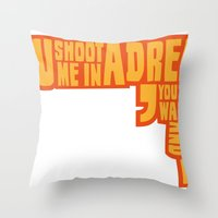 Shoot me in a dream Throw Pillow