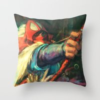 The Young Man from the East Throw Pillow