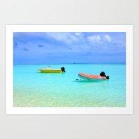 French polynesia seascape turquoise sea Art Print