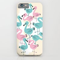 iPhone & iPod Case featuring Flamingo Go Go by Petra Wolff
