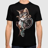 BMX CAT Mens Fitted Tee Black SMALL