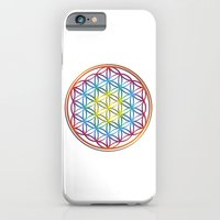 iPhone Cases featuring the flower of life by Li-Bro