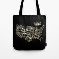 UNITE STATES OF BEARDLY - BLACK Tote Bag