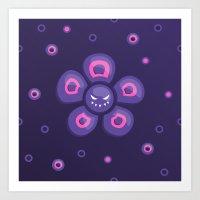 Purple Evil Flower Art Print