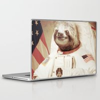 science Laptop & iPad Skins featuring Sloth Astronaut by Bakus
