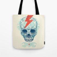 Skull Bolt Tote Bag