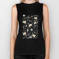 Flower Garden Watercolor Biker Tank