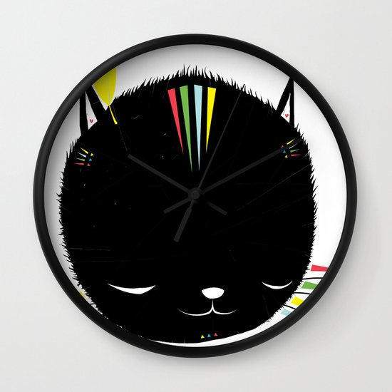MIGHTY TIGARRR, BLACK KITTEN 묘 Wall Clock