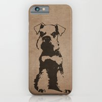 iPhone & iPod Case featuring Miniature Schnauzer by illustrious state