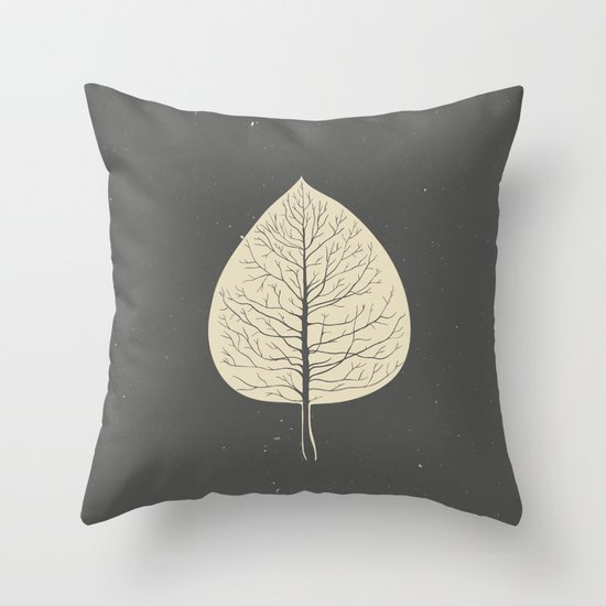 Tree-leaf Throw Pillow