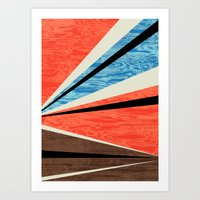 Graphic Woodgrain Art Print