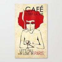 Café c'est la vie - Paris Canvas Print