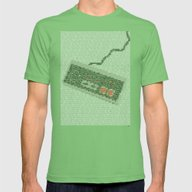 Konami Code Mens Fitted Tee Grass SMALL