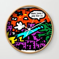 love is also a product Wall Clock