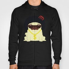 Pug in bling Hoody