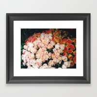 Paris roses Framed Art Print