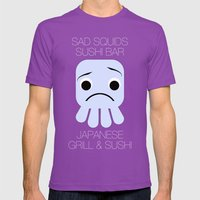 Sad Squids Sushi Bar Mens Fitted Tee Ultraviolet SMALL