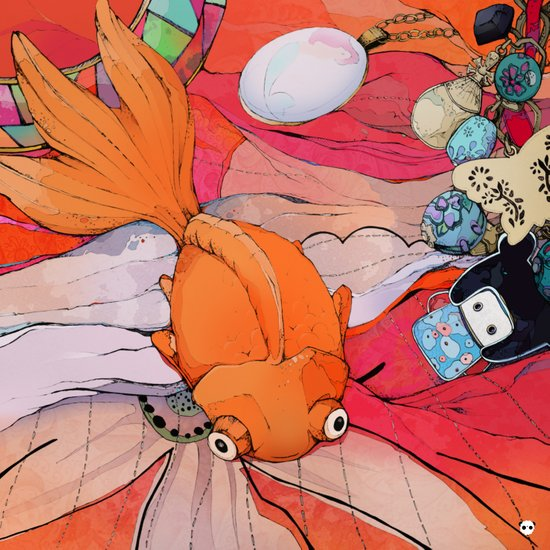 Goldie The Goldfish Art Print