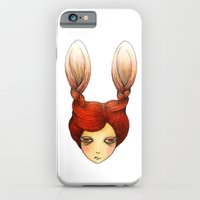 iPhone & iPod Case featuring the girl with rabbit hair by YK Kim
