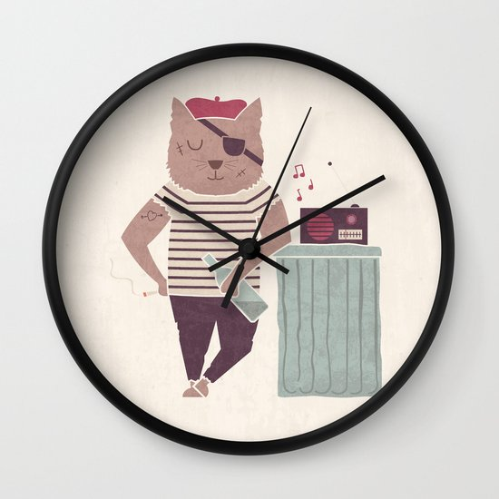 Stray Life Wall Clock