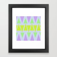 Framed Art Print featuring Triangles & Colors by CharlyROSE