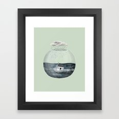 Glass Bowl House Framed Art Print