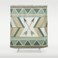 Aztec Pattern Arrows  Shower Curtain