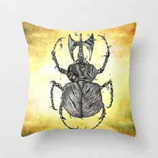 Sr Coprofago - Beetle shit Throw Pillow