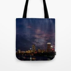 Boston at night  Tote Bag