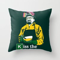 Kiss The Cook Throw Pillow