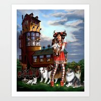 Gothic Lolita In The Sho… Art Print