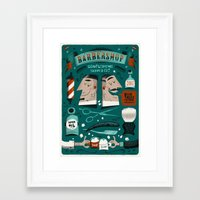 Barbershop Framed Art Print