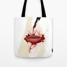 RED LIPS!  Tote Bag