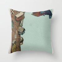 Bird House Throw Pillow