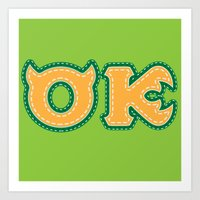 Monster University Fraternity : Oozma Kappa Art Print