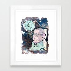Stephen Hawking Framed Art Print