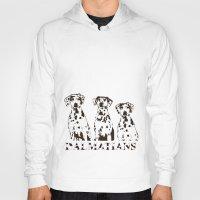 Three Dalmatians Dogs Hoody