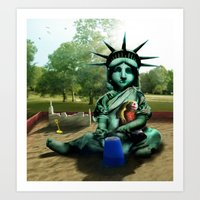 Little Liberty Art Print