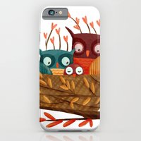iPhone & iPod Case featuring Owl Family by Stephanie Fizer Coleman
